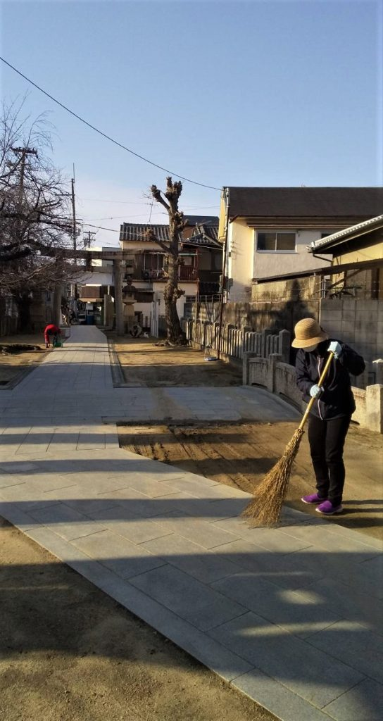 【2021年3月7日(日)】大宮神社清掃奉仕ボランティア 活動風景写真1